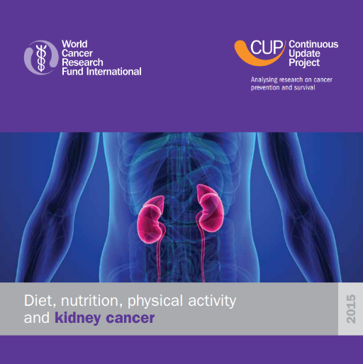 Diet Nutrition Physical Activity And Kidney Cancer Scottish Cancer Prevention Network