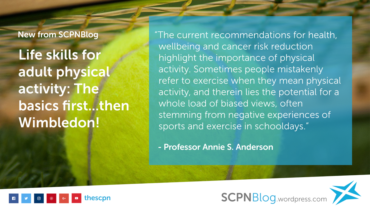 Life skills for physical activity - the basics first, then Wimbledon | The SCPN Blog