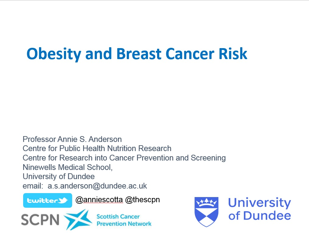 Obesity and Breast Cancer Risk Webinar
